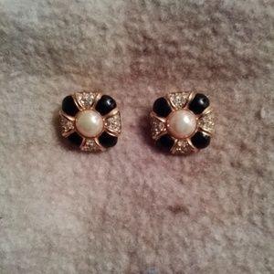 Christian Dior Vtg 1980's Clip-on Earrings